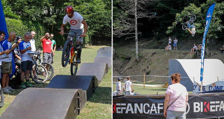 biker e pubblico al cimone bike festival