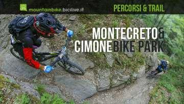 biker in discesa su un trail a montecreto