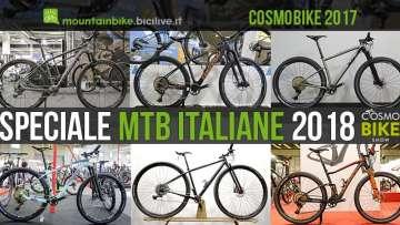 foto delle mtb italiane a cosmobike show 2017
