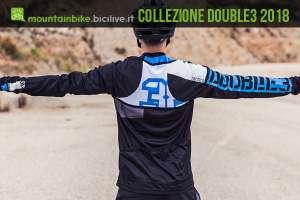 biker con abbigliamento mtb double3 2018