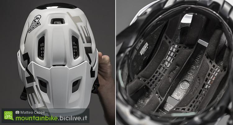 foto del casco met roam con imbottitura stacabile