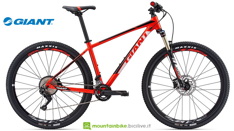 mtb front entry level giant talon 29er