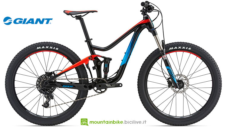 mtb full da trail junior giant trance jr