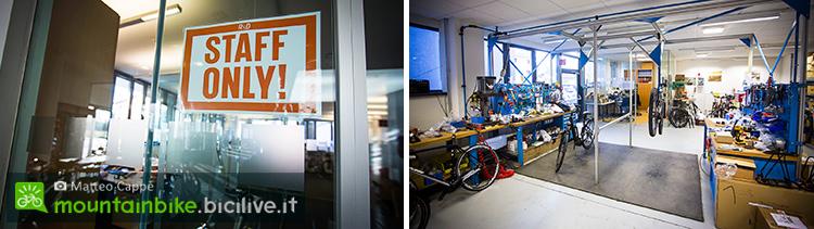 foto dell'interno dell'azienda ktm e reparto garanzie