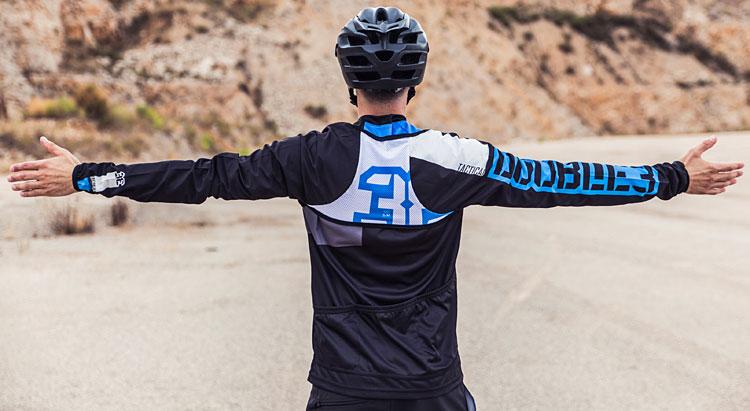 maniche da ciclismo impermeabili, antivento e packabili double3