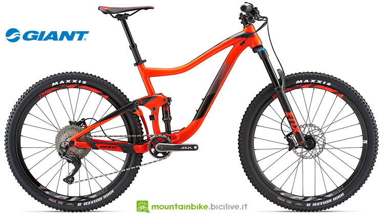 mtb full suspended dal catalogo e listino giant 2018