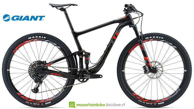 mtb xc in carbonio giant anthem advanced pro