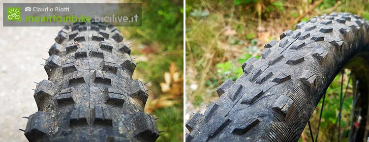 foto dei A sinistra il Michelin Wild AM e a destra il Force AM