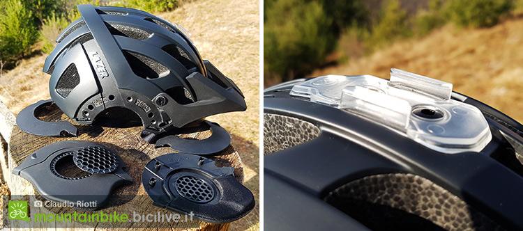 foto degli accessori del casco mtb lazer revolution