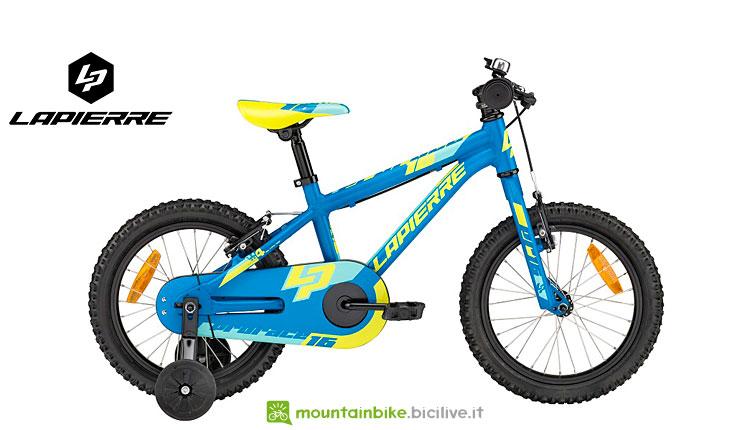 mtb lapierre con rotelle per bambini