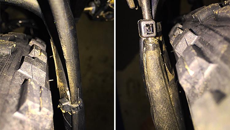 foto di un pneumatico su una mtb