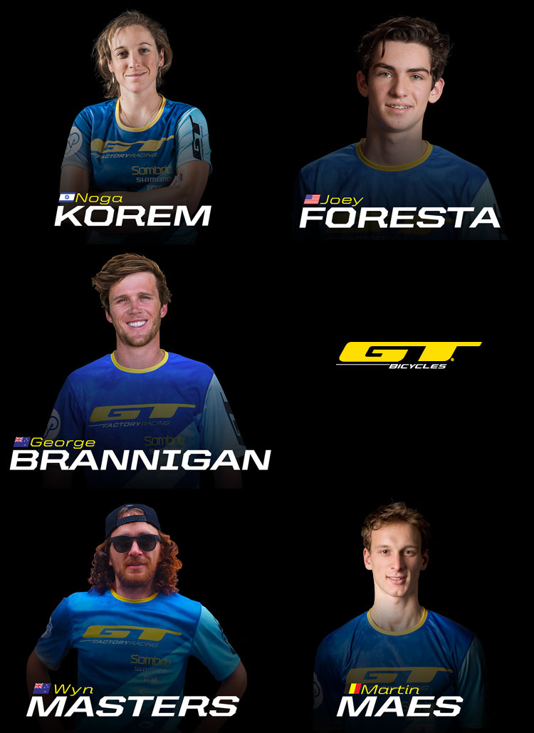 Il roster del team GT Factory 2018