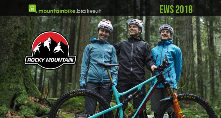 Rocky Mountain Race Face Enduro Team 2018 per l'EWS