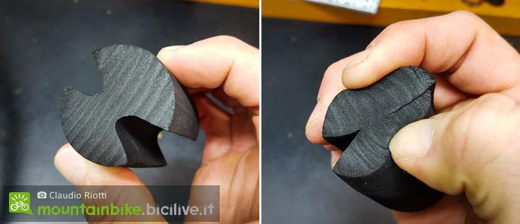 foto del sistema abs roc per proteggere il cerchio mtb in sezione
