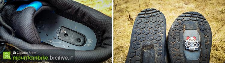 foto della scarpa shimano am9 con dettagli