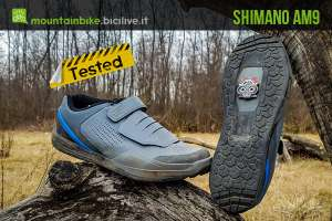 foto delle scarpe mtb shimano am9
