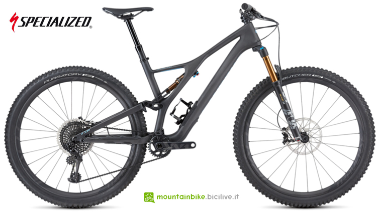La mtb da trail Specialized Stumpjumper ST 2018 con 130 mm di escursione