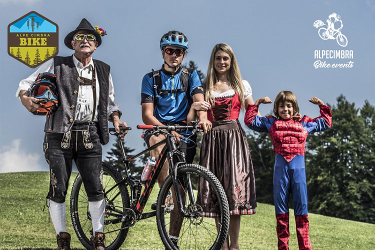 foto di quattro personaggi dell'alpe cimbra bike events