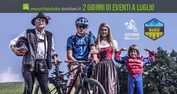 biker e bambini pronti per gli Alpe Cimbra Bike Days