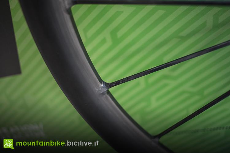 Particolare dell'intersezione cerchio raggio della ruota Syncros Silverton SL
