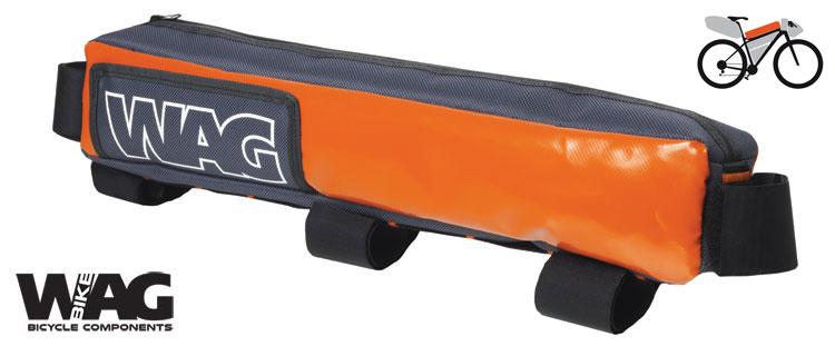 La borsa WAG sopra canna al telaio per il bikepacking