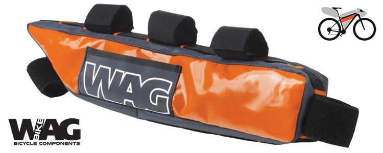 La borsa WAG sotto canna al telaio adatta al bikepacking in mtb