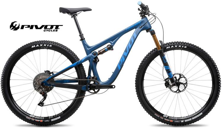 Una mtb Pivot Trail 429 color blu acciaio