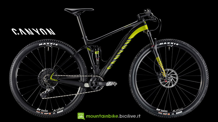 mountain bike FS da XC Canyon Lux