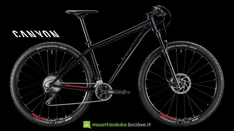 mtb hardtail in alluminio dal catalogo Canyon 2018