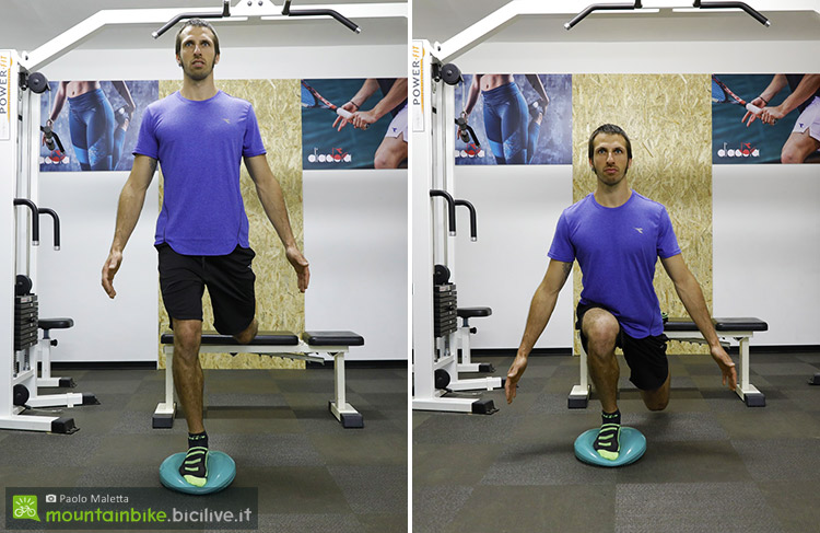 sequenza dello split squat