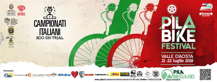 La locandina dei Campionati Italiani Assoluti mtb XCO DH Bike Trail 2018
