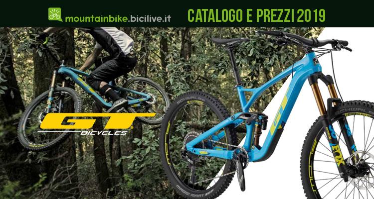 Mountain bike GT: catalogo e listino prezzi 2019