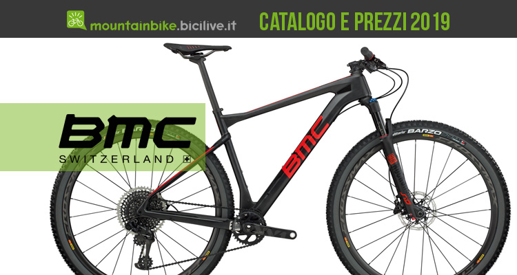 bmc mountain bike 2019 catalogo e listino prezzi mtb. Black Bedroom Furniture Sets. Home Design Ideas