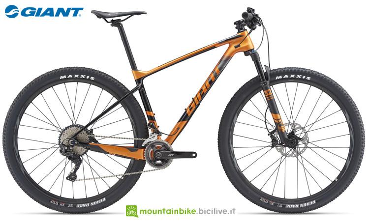 Una bici Giant XTC Advanced 29er 1.5 (GE)