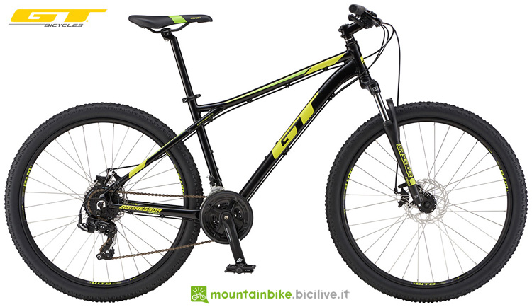 Una mountain bike entry level GT Aggressor Sport dalla gamma 2019
