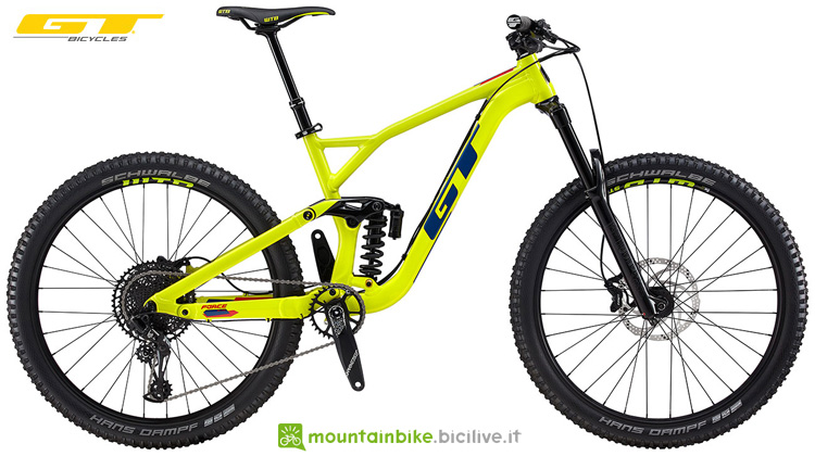 Una mtb in alluminio GT Force AL Elite 2019