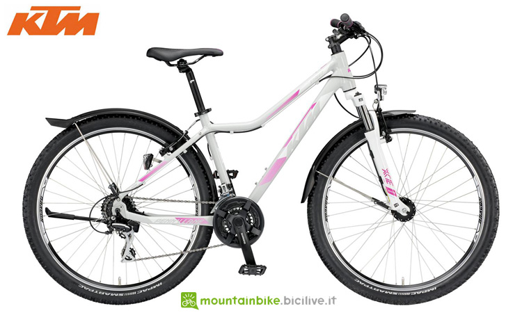 Una mountain bike da trekking per donne KTM PENNY LANE 27.24 STREET