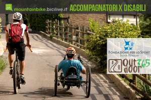 accompagnatore in MTB di un disabile