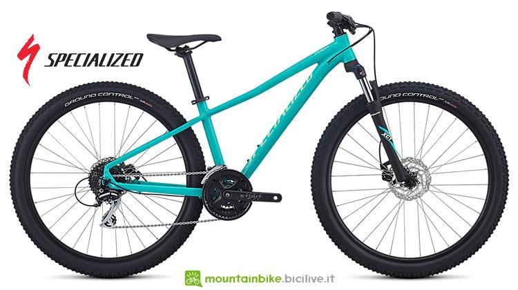 """MTB entry level hardtail Specialized Pitch Sport da donna con ruote da 27,5"""": 549 euro."""