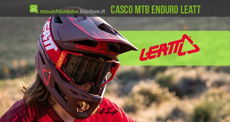 Leatt DBX 4 il casco mtb integrale pensato per l'enduro