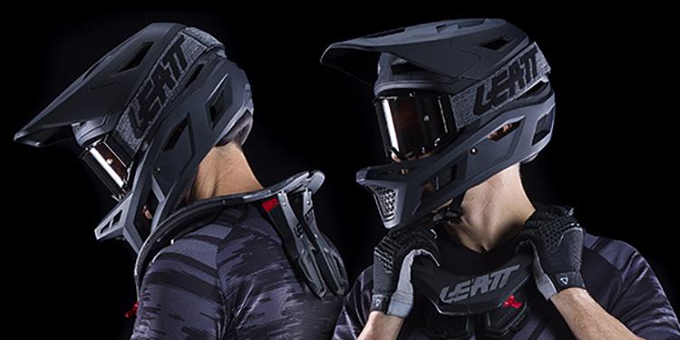 Collare di protezione MTB Leatt Brace Dbx 3.5 indossato