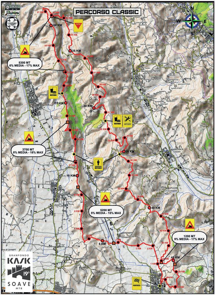 Granfondo KASK Soave MTB mappa del percorso