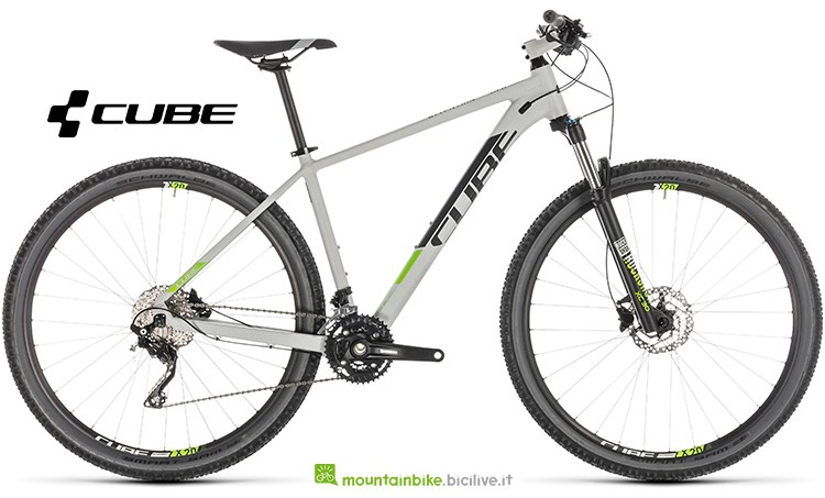 bicicletta Cube Attention grey'n'green gamma 2019