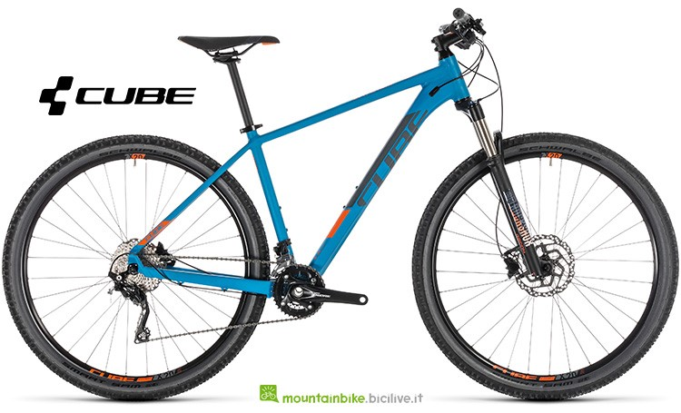 Bici Cube Attention SL blue'n'orange anno 2019