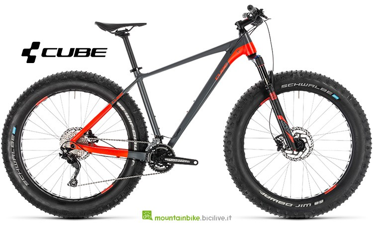Bicicletta Cube Nutrail grey'n'flashred catalogo 2019