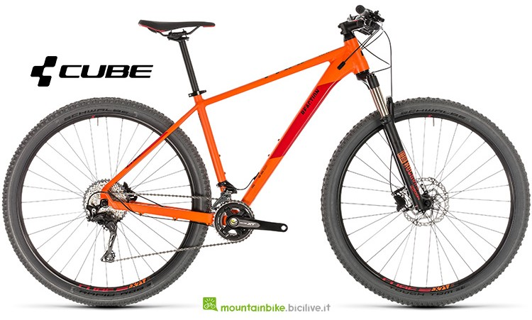 mtb Cube Reaction Pro orange'n'red catalogo 2019