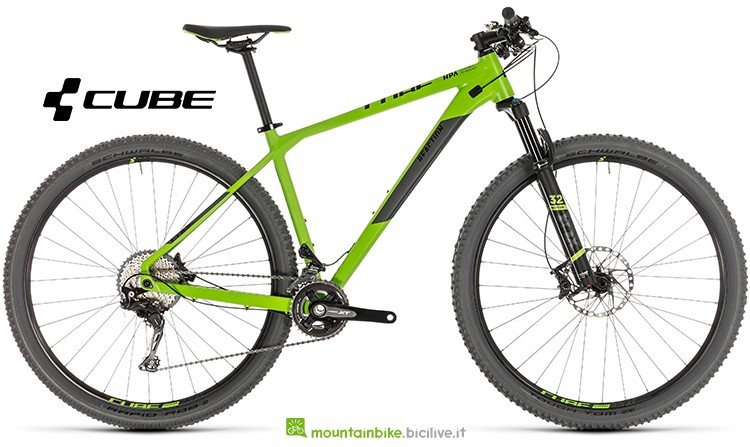 Bicicletta Cube Reaction SL green'n'grey catalogo 2019