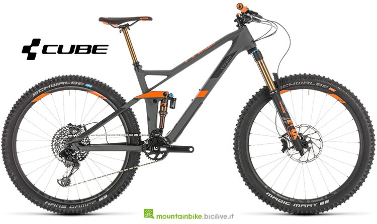 mtb Cube Stereo 140 HPC TM 27.5 grey'n'orange gamma 2019
