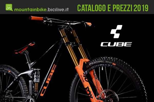 Mountain bike Cube 2019: catalogo e listino prezzi