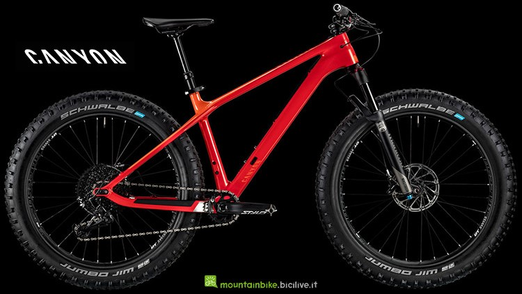 fat bike Canyon Dude CF 9.0 Trail  serie 2019
